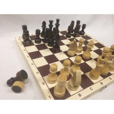 Шахматы лакированные малые
